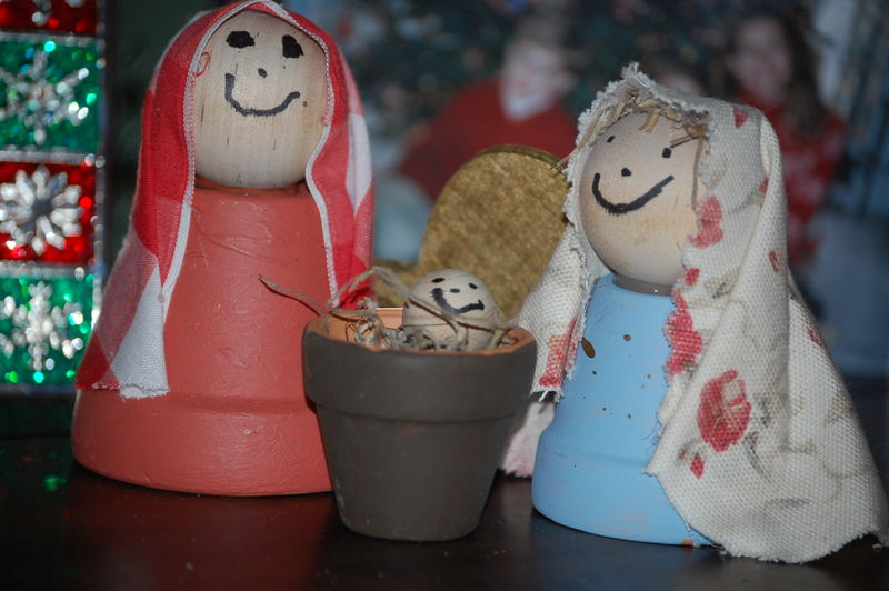 Handmade nativity
