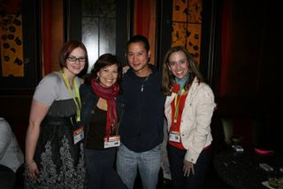 (L-R) Katja Presnal, Sugar Jones, Zappos CEO Tony Hsieh, me