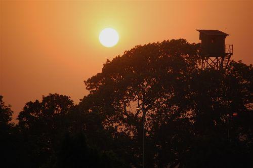 Spectacular sunset at Victoria Memorial Hall, Kolkata, India