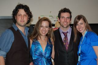 Me, Amber, Chris Mann and his accompaniest SO SORRY I CAN'T RECALL HIS NAME!