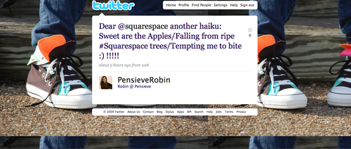 Winning #squarespace tweet for iPhone giveaway