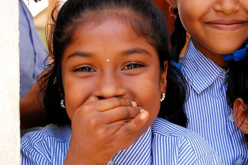 girl smiling in Kolkata, Compassion International
