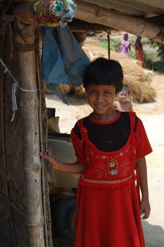 child in impoverished rural Calcutta
