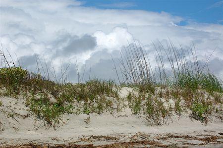 clouds, beach & dunes at Kiawah