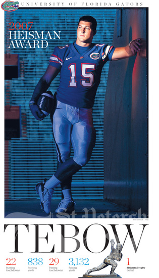 Tim Tebow poster from tampabay.com's photo gallery