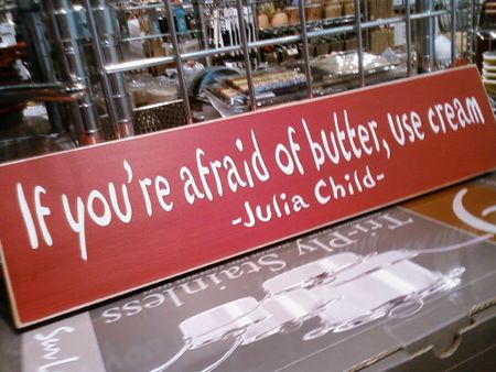 Julia Child butter cream quote