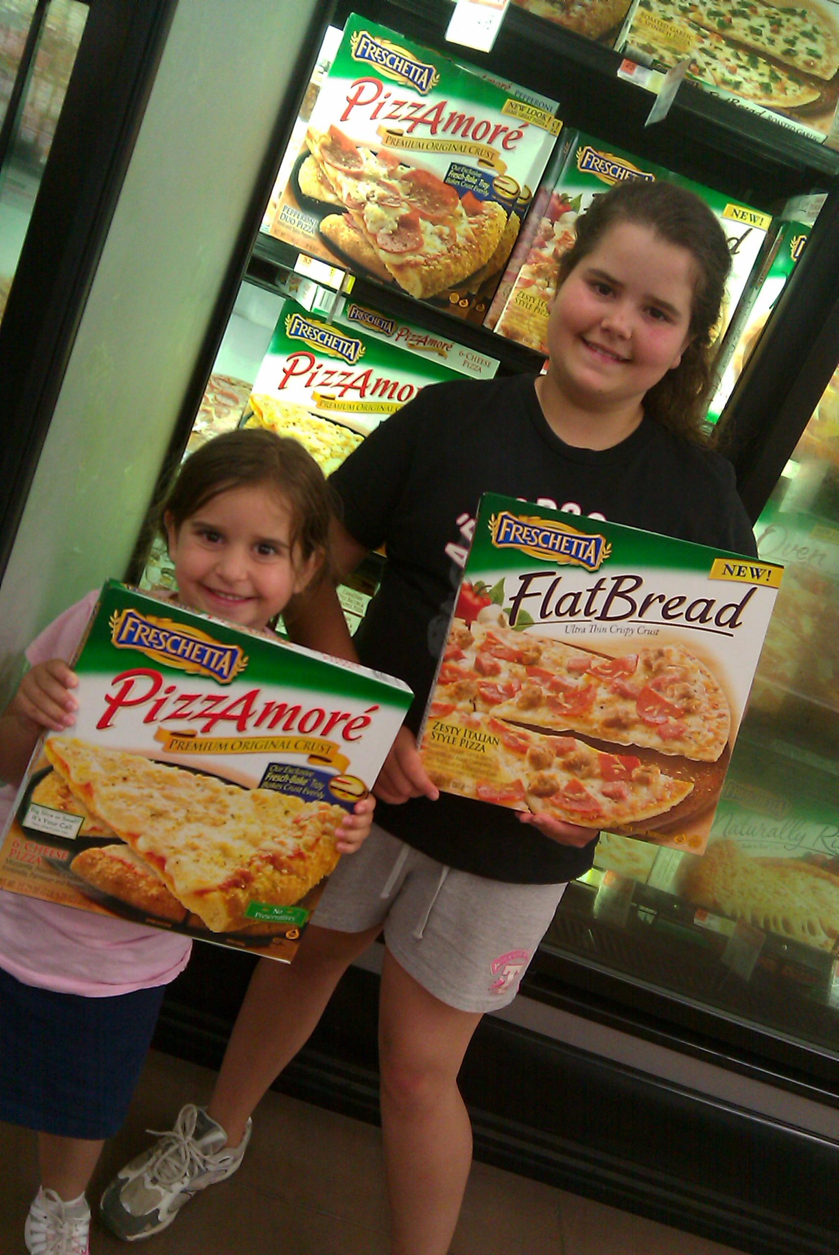 Freschetta Flatbread Pizza photograph with girls