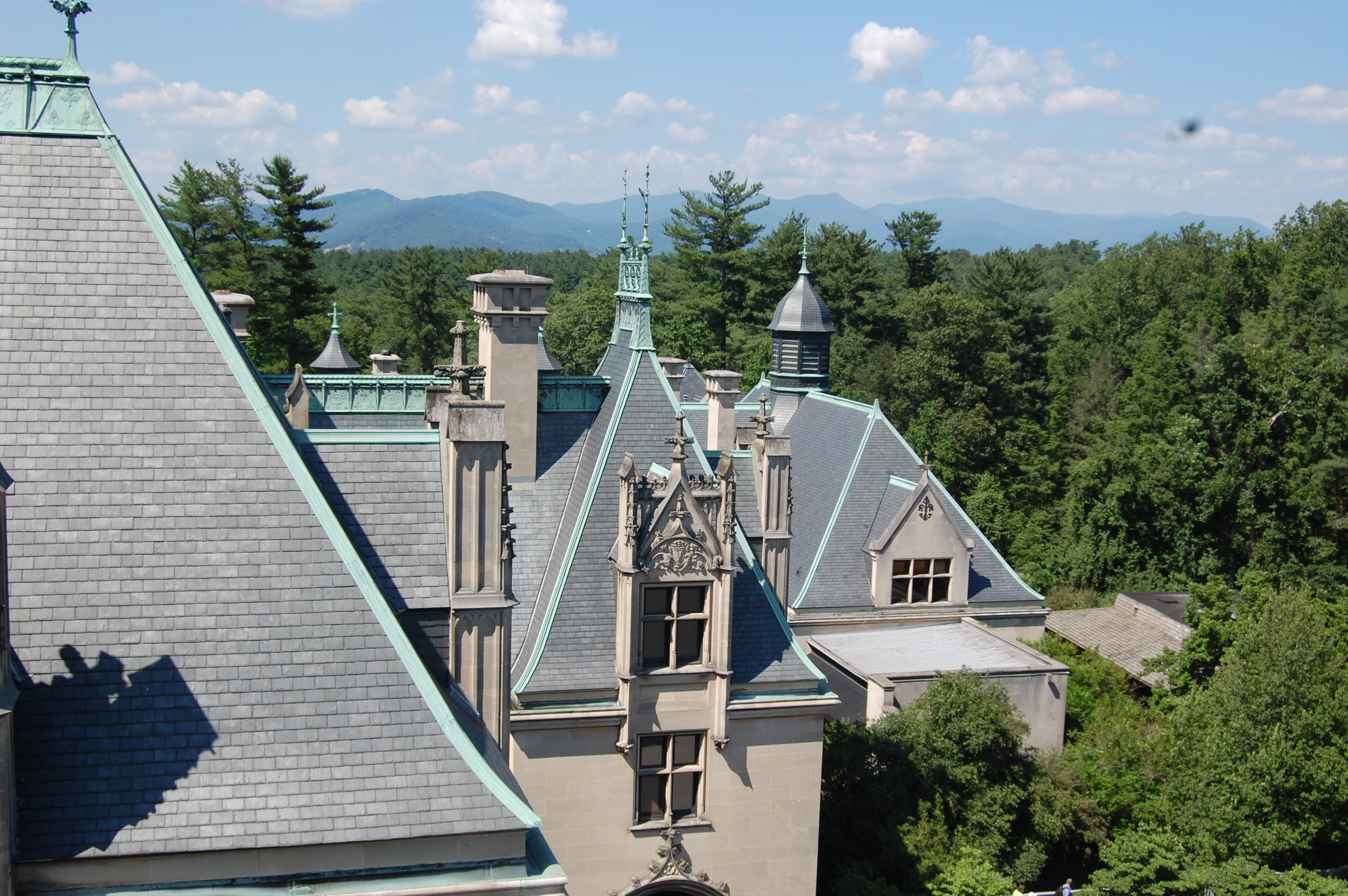 Rooftop view from the Biltmore House
