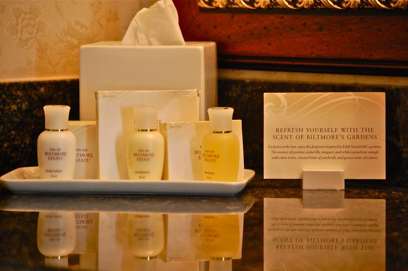 Hotel bath and body products, the Inn at Biltmore