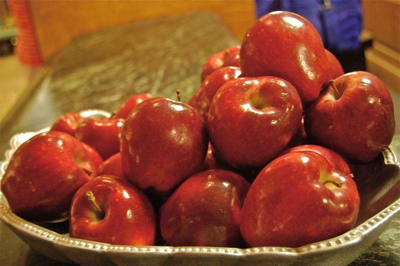 Red apples, lobby at The Inn at Biltmore