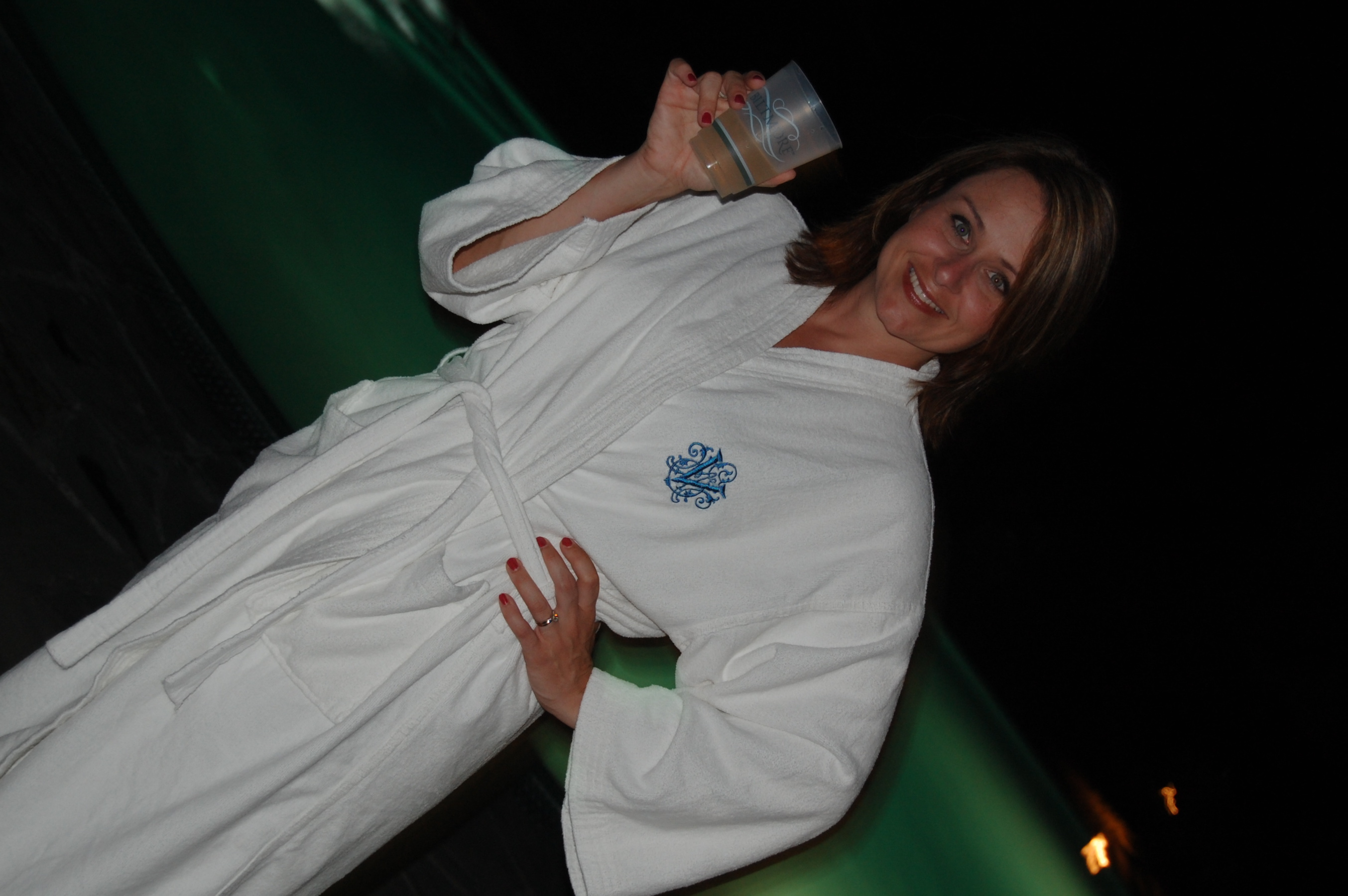 Sarah in Real Life, poolside