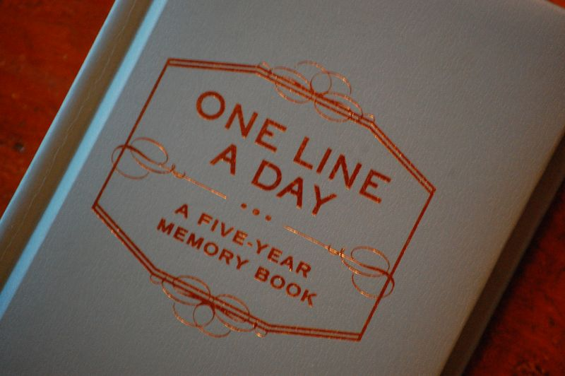 One Line a Day - Five-year memory book