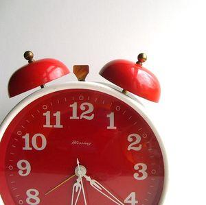 Vintage Mod Red alarm clock