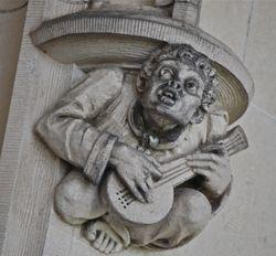 Biltmore House mandolin player grotesque