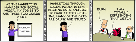 Dilbert on Social Media by Scott Adams