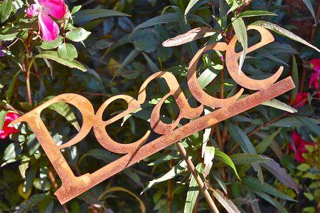 Peace garden stake