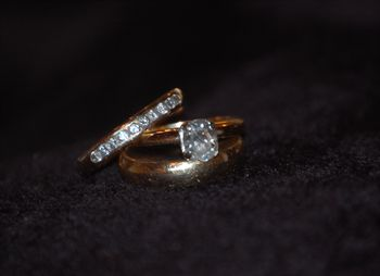 wedding & engagement ring and eternity band