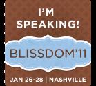 Blissdom Badge for Speakers