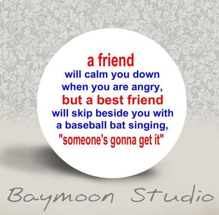 Best friend button