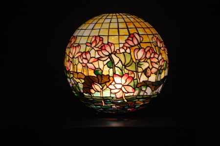 Globe Tiffany lamp