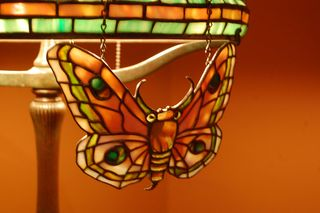 Tiffany lamp screen, moth
