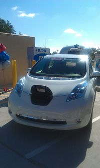 Nissan Leaf, Murphy USA Ribbon Cutting for EV Level 3 Charger