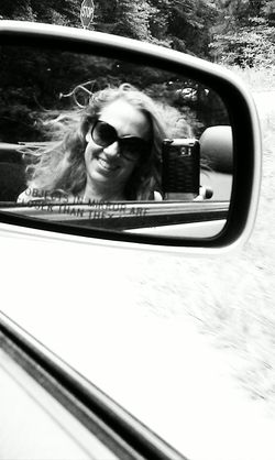 Image in rear view mirror