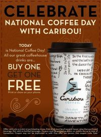 Caribou Coffee ~ B1G1 free for National Coffee Day 2011