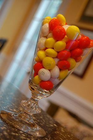 M&Ms Candy Corn White Chocolate candies