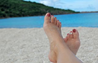 Feet at the beach, Antigua