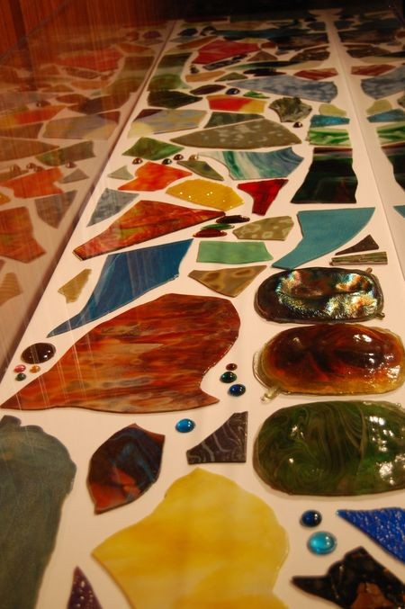 Flat and pressed glass pieces used for Tiffany lamps