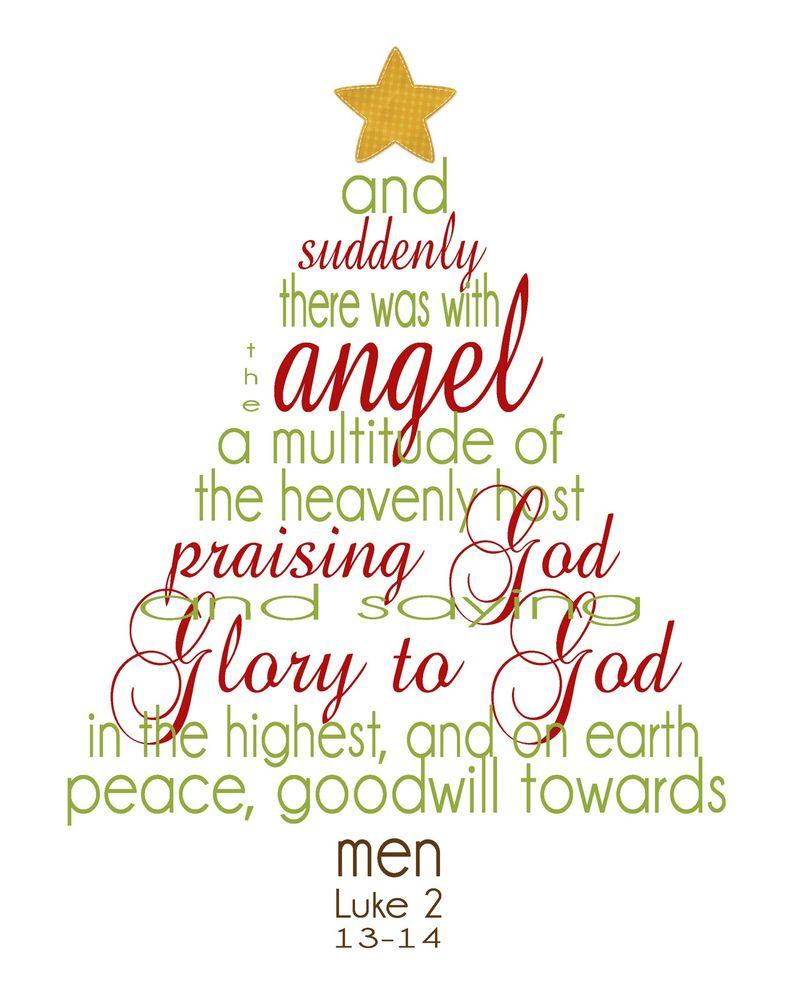 Luke 2: 13, 14 Christmas scripture