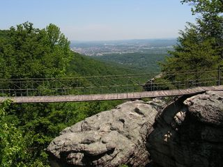 Swinging bridge at Rock City