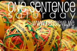 250 One Sentence Saturday @ PENSIEVE
