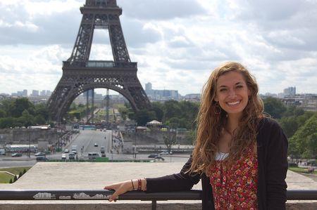 Rachel at the Eiffel Tower