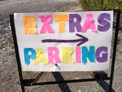 Parking sign for Extras