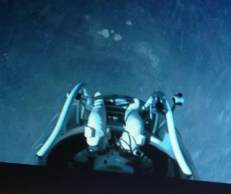 Felix Baumgartner's view from the capsule
