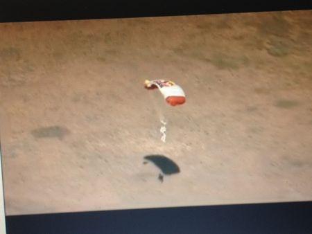 Felix Baumgartner, Stratos, Redbull, almost reaching ground