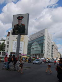 Russian soldier photo at Checkpoint Charlie