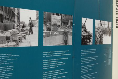Outdoor exhibition at Checkpoint Charlie