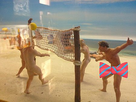 Nude volleyball, DDR Museum