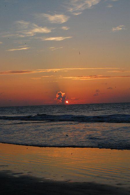 sunrise over the ocean, Hilton Head Islnd