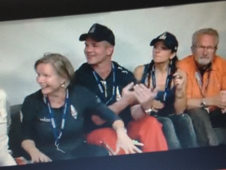 Felix Baumgartner's mother, father, family and friends