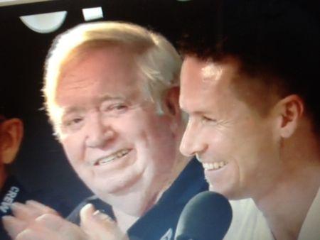 Joe Kittinger and Felix Baumgartner, smiling
