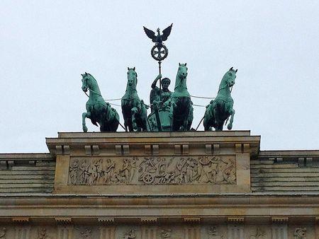 Brandenburg Gate statue ~