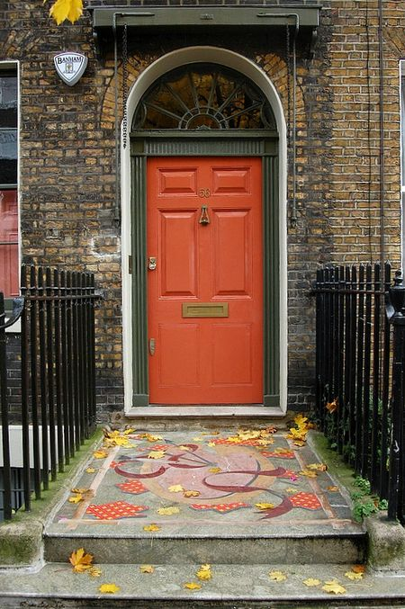 Coral door in London