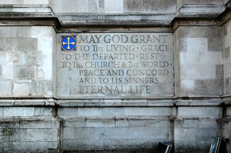 Quote outside Westminster Abbey in London