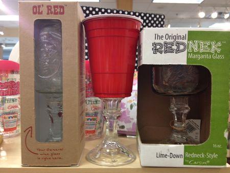 Redneck Wine Glass and Rednek Margarita Glass.