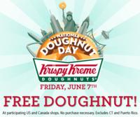 Krispy Kreme National Doughnut Day Banner