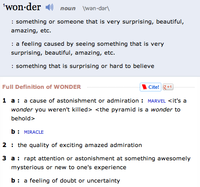 Definition of wonder as a noun